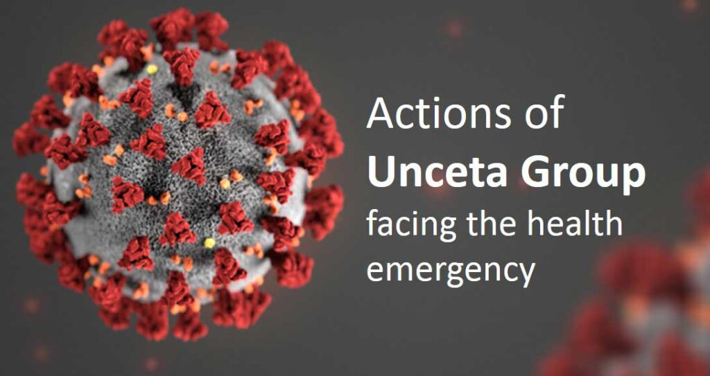 Actions of Unceta Group against the health emergency